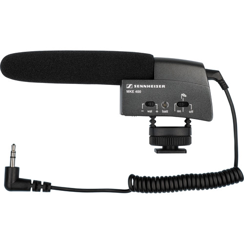 Sennheiser Sennheiser MKE400 Ultra Compact Shotgun Mic and Windjammer Kit