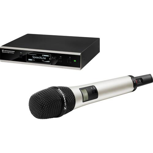 Sennheiser SpeechLine Digital Wireless SL Handheld Set DW-4-US C Wireless Mic with Case