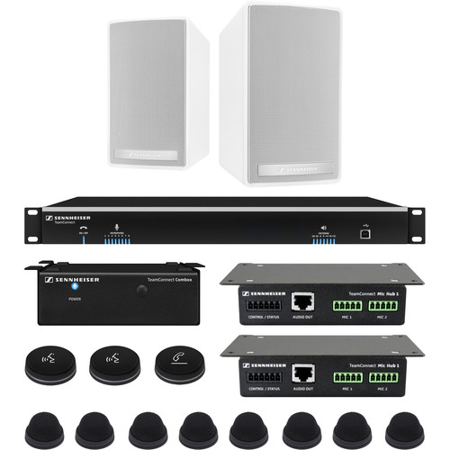 Sennheiser TeamConnect Large Fix System Bundle with In-Table Microphones for up to 16 Participants