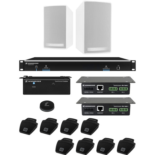 Sennheiser TeamConnect Large Flex System Bundle with On-Table Microphones for Up to 16 Participants