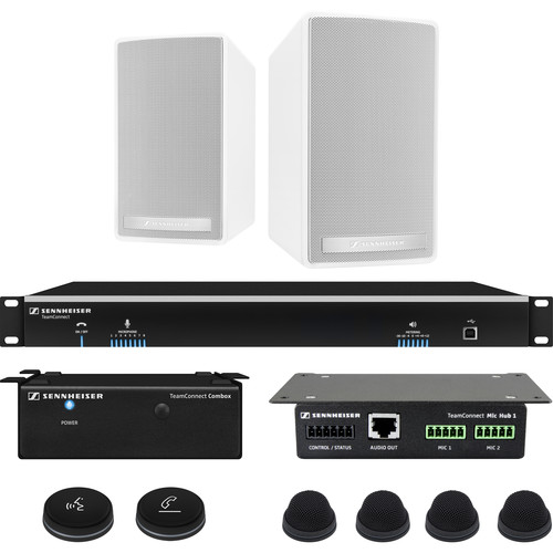 Sennheiser TeamConnect Standard Fix System Bundle with In-Table Microphones for Up to 8 Participants