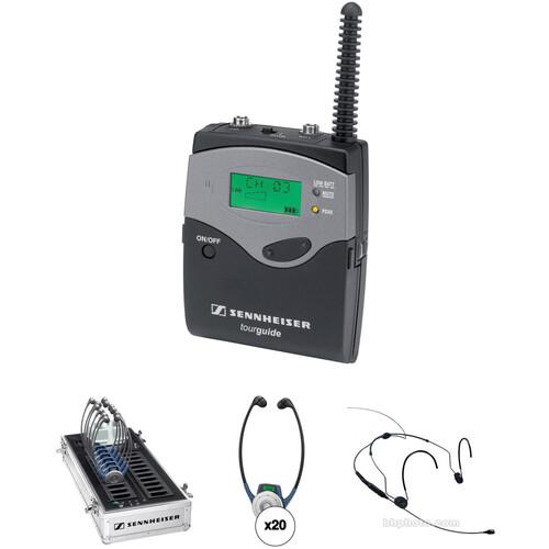 Sennheiser TG 2020 Bodypack Tour Guide System Kit (20-Pack)