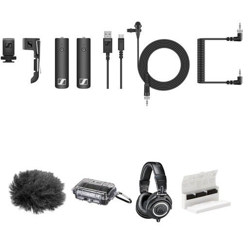 Sennheiser XSW-D Camera-Mount Digital Wireless Audio Kit with Omni Lavalier Mic and Headphones (2.4 GHz)