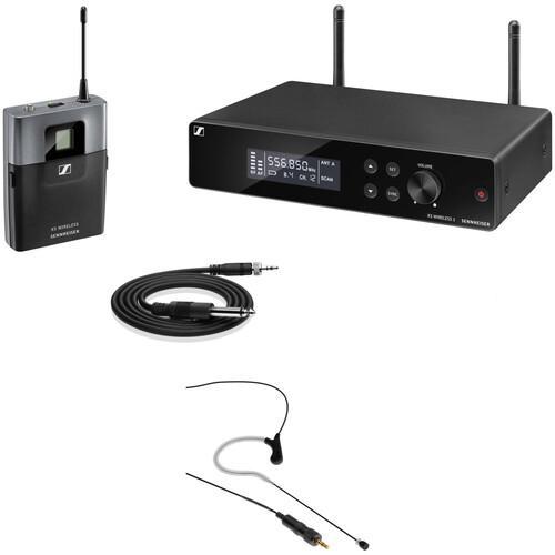 Sennheiser XSW2-CI1 Rackmount Wireless Omni Earset Microphone System Kit (Black, A: 548 to 572 MHz)