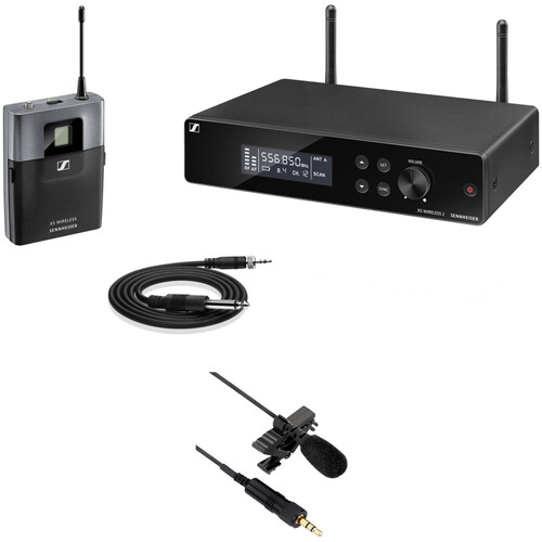 Sennheiser XSW2-CI1 Rackmount Wireless Omni Lavalier Microphone System Kit (A: 548 to 572 MHz)