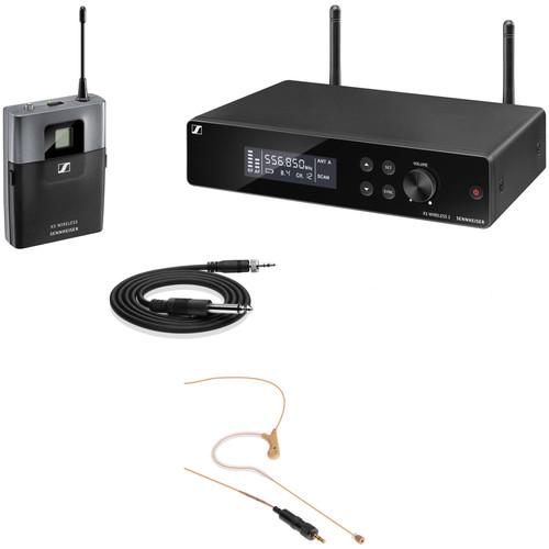 Sennheiser XSW2-CI1 Rackmount Wireless Earset Microphone System Kit (Beige, A: 548 to 572 MHz)