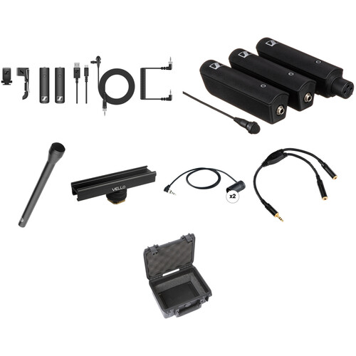 Sennheiser XSW-D 2-Person Digital Camera-Mount Wireless Combo Microphone System Kit (2.4 GHz)