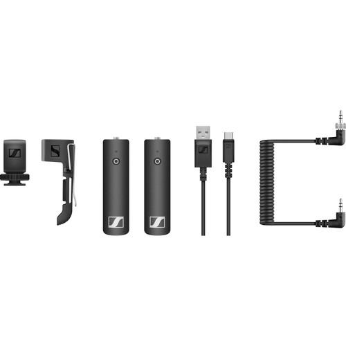 Sennheiser XSW-D PORTABLE BASE SET Digital Camera-Mount Wireless Bodypack Microphone System with No Mic (2.4 GHz)