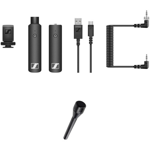 Sennheiser XSW-D PORTABLE INTERVIEW SET Digital Camera-Mount Wireless Plug-On Microphone Kit with Shure VP64A Mic (2.4 GHz)