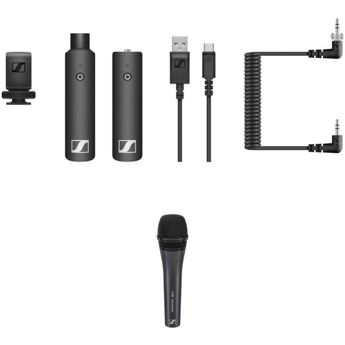 Sennheiser XSW-D PORTABLE INTERVIEW SET Digital Camera-Mount Wireless Plug-On Microphone Kit with e 835 Mic (2.4 GHz)