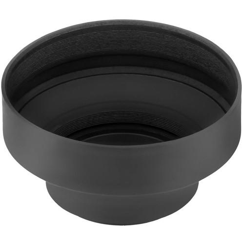 Sensei 55mm 3-In-1 Rubber Lens Hood and 52mm Lens Cap Kit