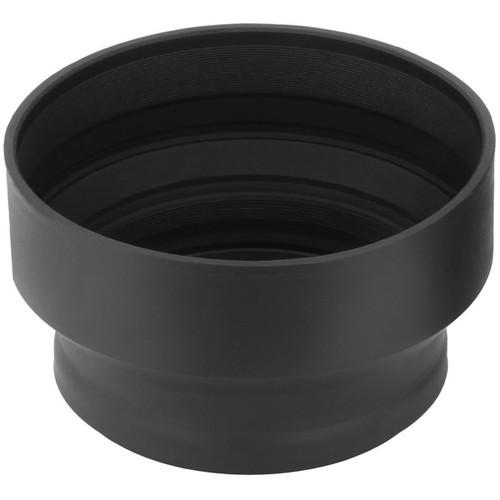 Sensei 82mm 3-In-1 Rubber Lens Hood and 77mm Lens Cap Kit