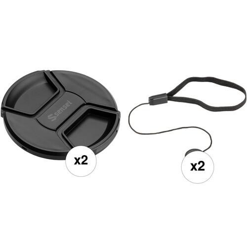 Sensei 95mm Center Pinch Snap-On Lens Cap and Cap Keeper Lens Cap Holder Kit (3-Pack)