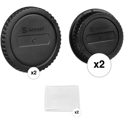 Sensei Body Cap and Rear Lens Cap Kit for Canon EOS