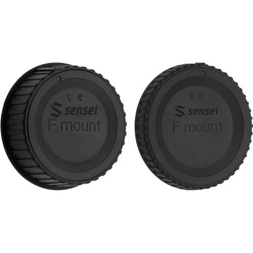 Sensei Body Cap and Rear Lens Cap Kit for Nikon F-Mount