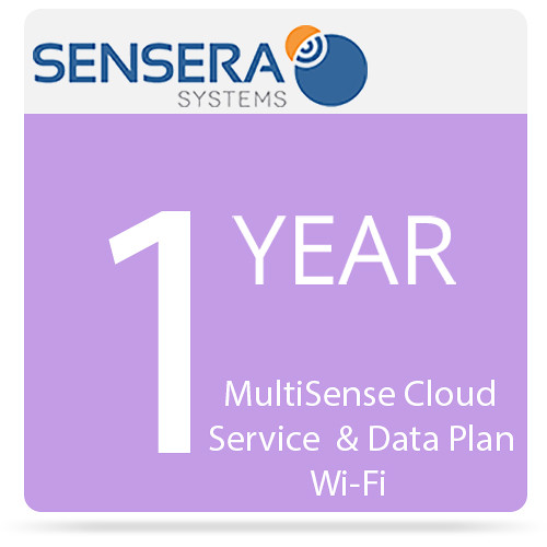 Sensera MultiSense Cloud Service & Data Plan - Wi-Fi (1 Year Pre-Purchased, Unlimited Data)