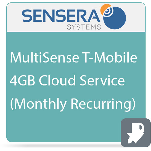 Sensera MultiSense T-Mobile 4GB Cloud Service (Monthly Recurring)