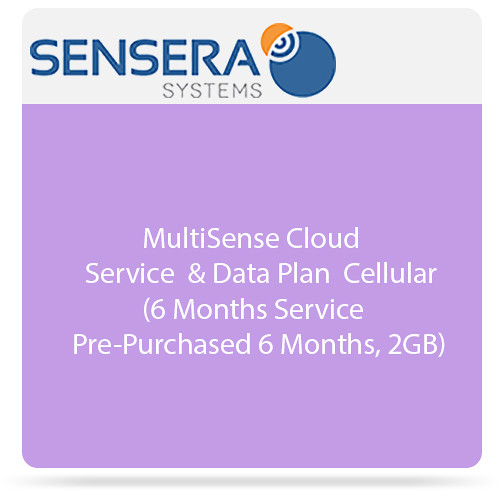 Sensera MultiSense Cloud Service & Data Plan - Cellular (6 Months Service Pre-Purchased 6 Months, 2GB)