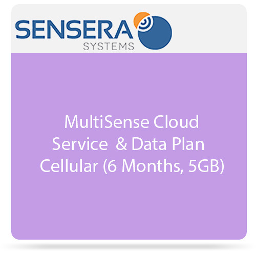 Sensera MultiSense Cloud Service & Data Plan - Cellular ( 6 Months, 5GB)