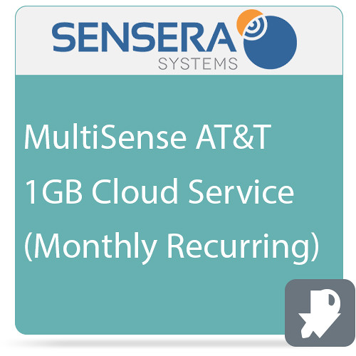 Sensera MultiSense AT&T 1GB Cloud Service (Monthly Recurring)