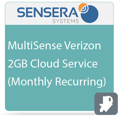 Sensera MultiSense Verizon 2GB Cloud Service (Monthly Recurring)