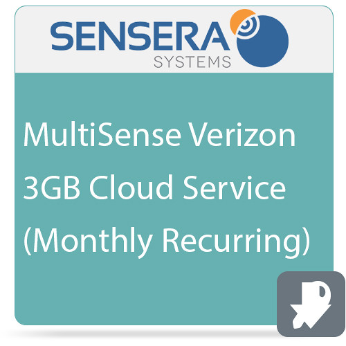 Sensera MultiSense Verizon 3GB Cloud Service (Monthly Recurring)