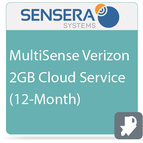 Sensera MultiSense Verizon 2GB Cloud Service (12-Month)