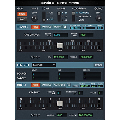Serato Pitch 'n Time Pro 3.0 - Time Stretching and Pitch-Shifting AudioSuite Plug-In (Download)