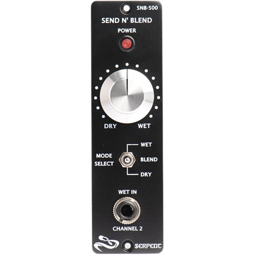 Serpent Audio 500 Series Send N' Blend Mix / Blend Module