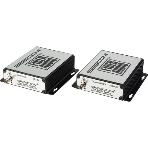 Sescom SES-FA1 2-Channel Unbalanced Line Level Audio over Fiber Extender Kit