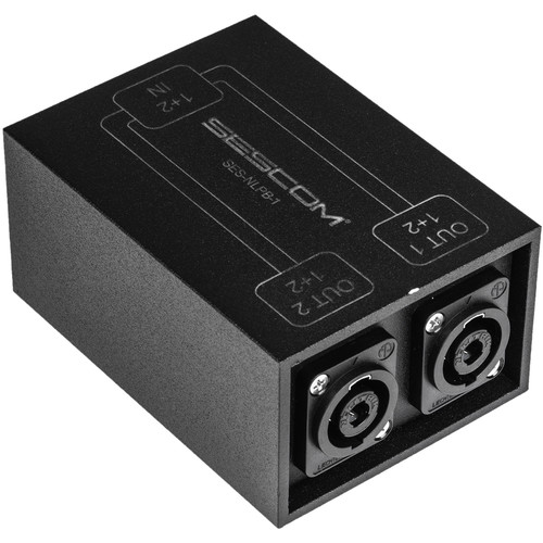 Sescom SpeakON Parallel Splitter Audio Box NL4 to Two NL4 Chassis Connectors