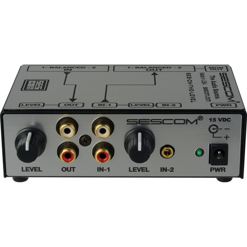 Sescom SES-ON-THE-LEVEL RCA to XLR Audio Level Converter