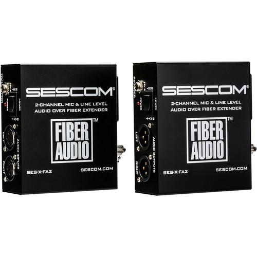 Sescom Portable 2-Channel Audio-over-Fiber Extender Kit