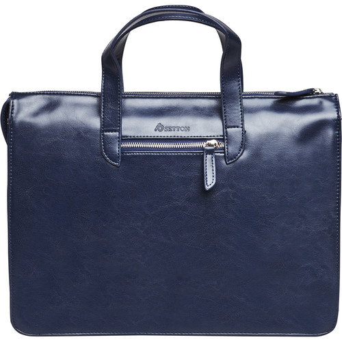 """Setton Brothers Elogio Slim Briefcase for 13"""" Laptop (Blue)"""