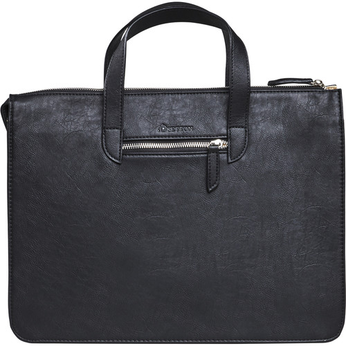 "Setton Brothers Elogio Slim Briefcase for 13"" Laptop (Black)"