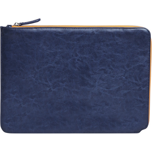 """Setton Brothers Faux Leather Sleeve for 13"""" MacBook Air/Pro Retina (Blue)"""