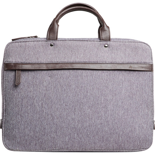 "Setton Brothers Avanti Slim Waterproof Briefcase for 15"" Notebook (Gray)"