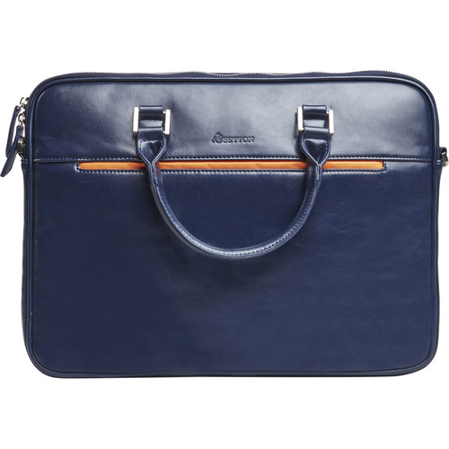 Setton Brothers Pintta Slim Lightweight Briefcase (Blue)