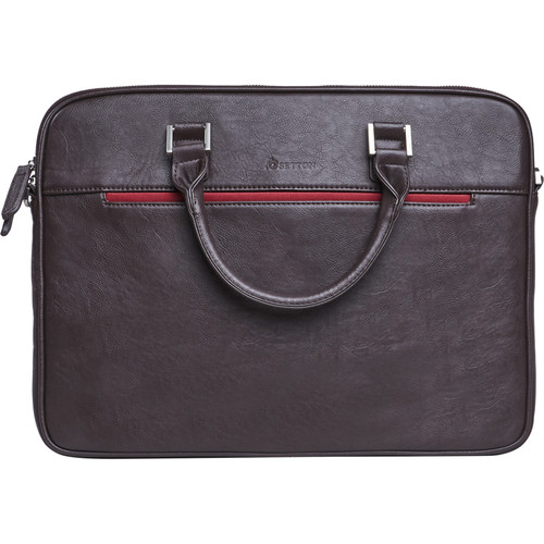 """Setton Brothers Pintta Slim Lighweight Briefcase for 15"""" Laptop (Brown)"""
