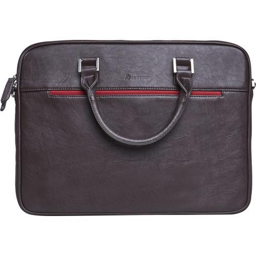 Setton Brothers Pintta Slim Lightweight Briefcase (Brown)