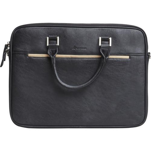 Setton Brothers Pintta Slim Lightweight Briefcase (Black)
