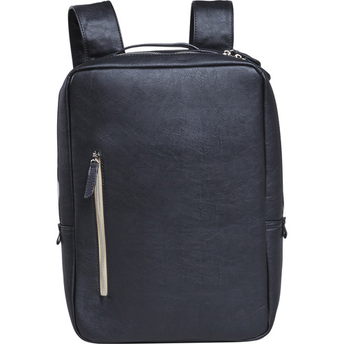 "Setton Brothers Miaesa Faux Leather Backpack for 15"" Laptop (Black)"