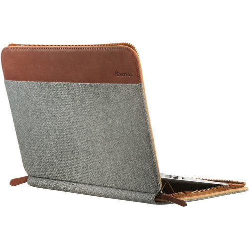 """Setton Brothers Slim Case with Ergonomic Stand for 13"""" MacBook Air (Light Gray)"""