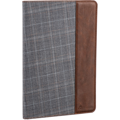 Setton Brothers iPad Pro 9.7 Case Holder/Stand/Smart Cover With Multi Viewing Angles (Grey Plaid/Brown)