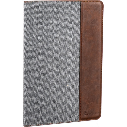 """Setton Brothers Case Ultra Slim with Smart Cover for Apple 9.7"""" iPad (Light Gray/Brown)"""