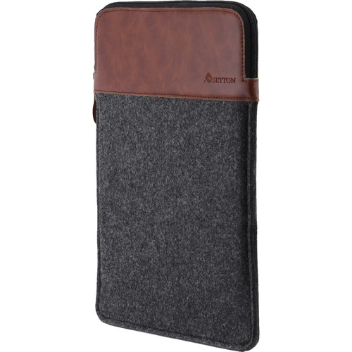 """Setton Brothers Wool Felt Sleeve for 12"""" MacBook (Gray/Brown)"""