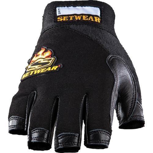Setwear Leather Fingerless Gloves (Medium)