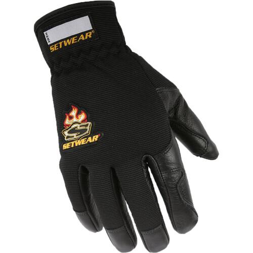 Setwear Pro Leather Gloves (Medium, Black)