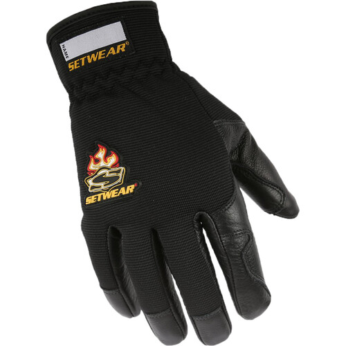 Setwear Pro Leather Gloves (Large, Black)