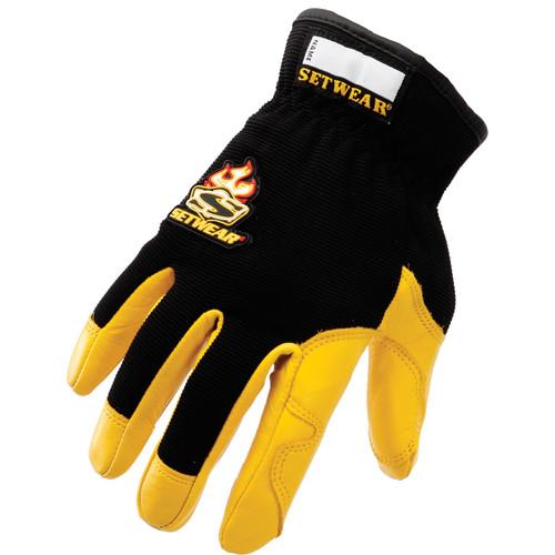 Setwear Pro Leather Gloves (Large, Tan)